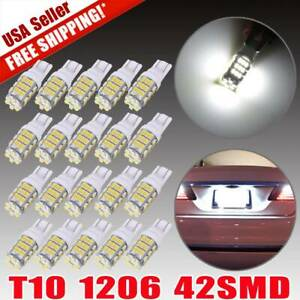 20x Super White T10 921 194 Rv Trailer 42 Smd Led Backup Reverse Lights Bulbs