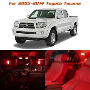 For 2005 2014 Toyota Tacoma Red Led Interior Lights Package Deal