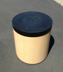 Retail Display Circular Pedestal Table Store Fixture W Optional Blackttop