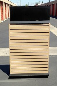A Frame Slat Wall Retail Display Store Fixture Unit On Casters