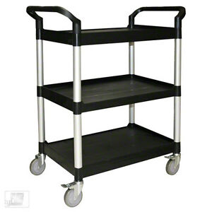 33 1 2 Plastic 3 tier Bus Cart