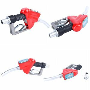 Fuel Gasoline Diesel Petrol Oil Delivery Gun Nozzle Dispenser W flow Meter Us An