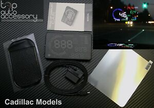 Hud Head Up Display 5 5 Obd Ii 2 Speed Rpm Warning System For All Cadillac