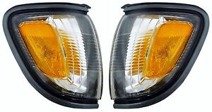 2001 2002 2003 2004 Toyota Tacoma Corner Lamp Light Gray Left And Right Pair