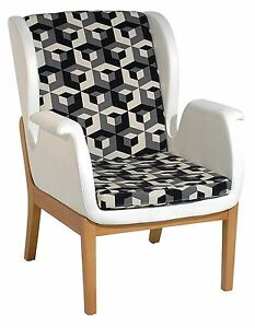 New Modern Contemporary fabric upholstery Relax accent chair in Black