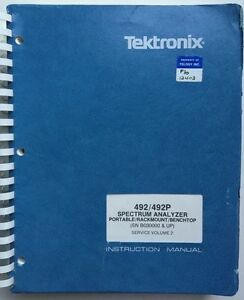 Tektronix 492 492p Service Manual Vol 2 P n 070 3784 01 Rev Aug 1983