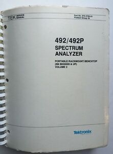Tektronix 492 492p Service Manual Vol 2 P n 070 3784 01 Rev Apr 1985