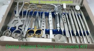 Dental Implant Surgery Kit Set Of 20 Pieces Dentistry Instruments