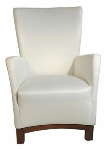 New Modern Contemporary fabric upholstery VIOLET accent chair in White (pattern)
