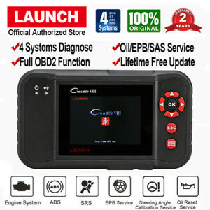 Launch X431 Creader Viii Crp129 Obd2 Diagnostic Scanner Epb Abs Srs Sas Crp123