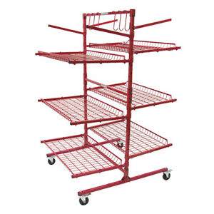 New Innovative Tools C Series Mobile Autobody Parts Storage Rack Shelf Cart