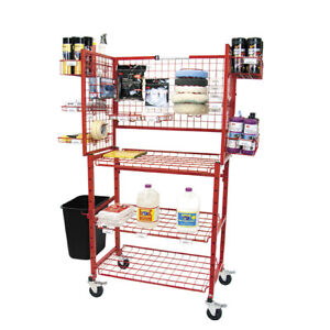 New Innovative Tools Detailers Mobile Autobody Parts Storage Rack Shelf Cart