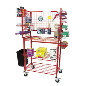 New Innovative Tools Body Man Mobile Autobody Parts Storage Rack Shelf Cart