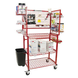New Innovative Tools Painters Prep Mobile Autobody Parts Storage Rack Shelf Cart