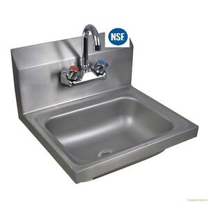Hand Sink Commercial Stainless Steel Wall mount 12 X 12 Nsf