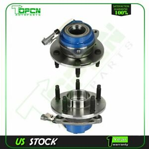 2 New Front Left Right Wheel Hub And Bearing Assembly Pair For Gm Abs 5 Lug