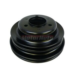 Black Bbc Chevy 396 427454 Crankshaft Pulley Long Water Pump Triple 3 Groove Lwp