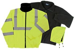 Class 3 Ansi Rated Winter Bomber Jacket Hi Viz Yellow 3 1 W510 By Erb Fast Ship