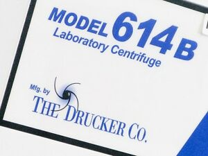 Model 614b Duramark Laboratory Centrifuge The Drucker Company