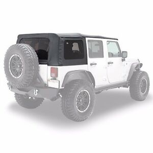 Smittybilt Oem Replacement Soft Top W Tint 07 09 4dr Jeep Wrangler Jk 9080235