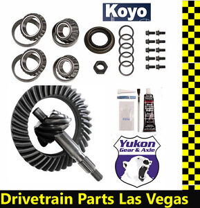 High Performance Yukon Ring Pinion Gear Set Ford 8 3 80 Ratio With Master Kit