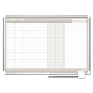 Monthly Planner 48x36 Silver Frame