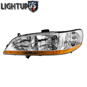Left Driver Side Lh Headlight For 2001 2002 Honda Accord Coupe Sedan