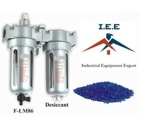 1 2 Compressed Air In Line Filter Desiccant Dryer Combo Use W plasma Cutter