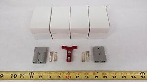Anderson Original Battery Connector 6319 Gray Mating Pair Handle Qty 4