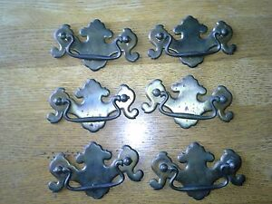 Lot Of 6 Large Vintage Style Drawer Pull Handles