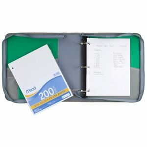 Paper Loose Leaf Wide Ruled Filler 200 Sheets Pack Mead School College Qty 3