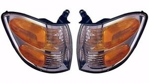 2000 2004 Toyota Tundra Double Cab Only 01 04 Sequoia Corner Lamp Light Pair
