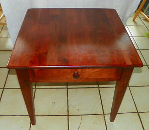Solid Cherry End Table Side Table By Century Bm T474