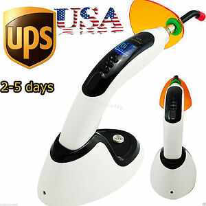10w Wireless Cordless Led Dental Curing Light Lamp Tooth Whitening 2000mw usa