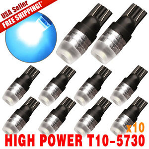 10 X Ice Blue T10 Wedge High Power 1w Car Led Bulbs 12v 192 168 194 Us