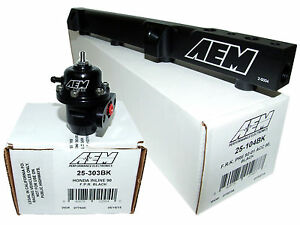 Aem High Volume Fuel Rail Adj Pressure Regulator For Honda H22a1 H22a4 H23a1