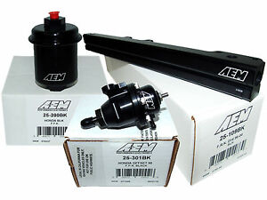 Aem High Volume Fuel Rail Adj Pressure Regulator Filter Honda D16y7