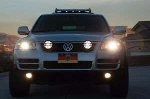 Piaa 510 Off Road Driving Lights For 2002 2017 Volkswagen Touareg Bumper Grille