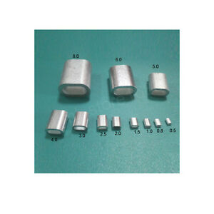 Aluminium Wire Rope Ferrules Crimping Sleeves 0 5mm To 8mm