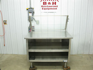 Amtekco 48 X 36 Stainless Steel Cabinet Work Prep Table W Sneeze Guard 4 x3