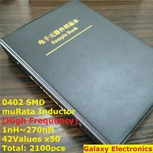 0402 Murata Smd Chip Inductor Assorted Kit 1nh 270nh 42valuesx50 Sample Book
