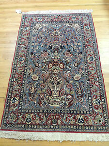 3x5 Small Isfahan Persian Oriental Area Rug Carpet Red Gray Spectacular