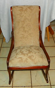 Walnut Sewing Rocker Rocking Chair R201
