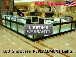 8 Foot Showcase Display Glass Anitque Case Pawn Jewelry Replacement Led Lights
