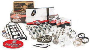 Enginetech Sb Chevy 235 54 58 Hydraulic Lifters Engine Kit Pistons Rings Cam