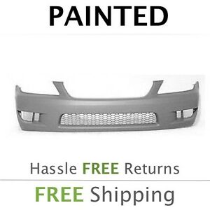 New Fits 2004 2005 Lexus Is300 W O Hl Wash Front Bumper Painted Lx1000121