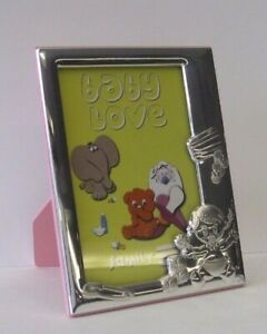 Italian 925 Sterling Silver Adorable Baby Pink Kids Picture Frame Itny20103 2