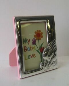 Italian 925 Sterling Silver Elephant Pink Baby Kids Picture Frame Itny2003r 2