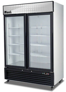 Migali C 49fm Commercial 2 Glass Door Hinged Merchandiser Freezer