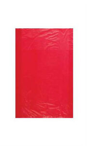 Count Of 1000 Extra Small Red High density Plastic Merchandise Bag 6 X 9